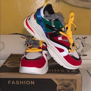 Multi Color Fashion Sneakers